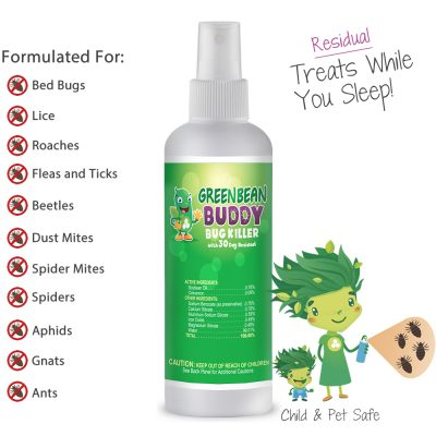 Bed Bug, Lice, Roach, Flea, Tick, Beetle, Ant, Mite Control and Killer, 3oz