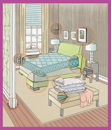 bedbug hiding spots in bedroom