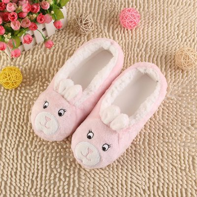 Womens Plush and Warm Animal Slippers
