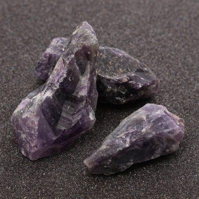 Hand Cut Amethyst Healing Stone Crystal Quartz, 100g
