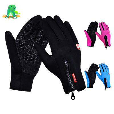 Waterproof Touch Screen Fleece Cycling Gloves and Outdoor Ski Gloves for Men and Women
