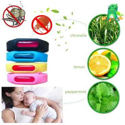 Essential Oil Bed Bug and Mosquito Repellent Bracelet, 1 Bracelet with Oil Capsule