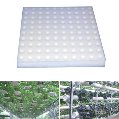Hydroponic Seedling Planters, 1 Sponge Sheet with 100pcs